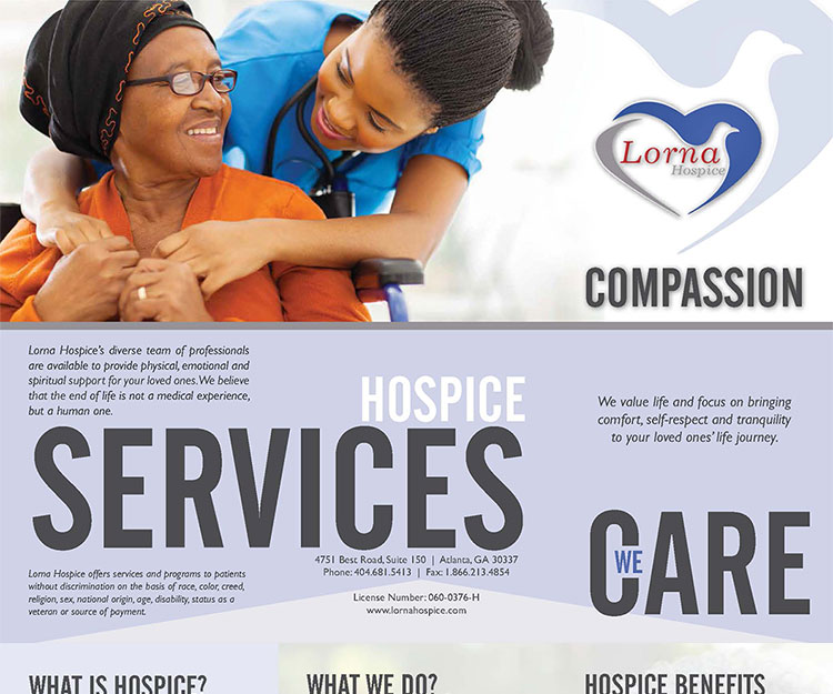 Lorna Hospice Brochure created by Camrose Creative Services
